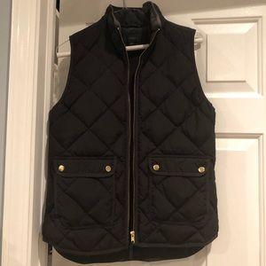 J.Crew Black Quilted Vest